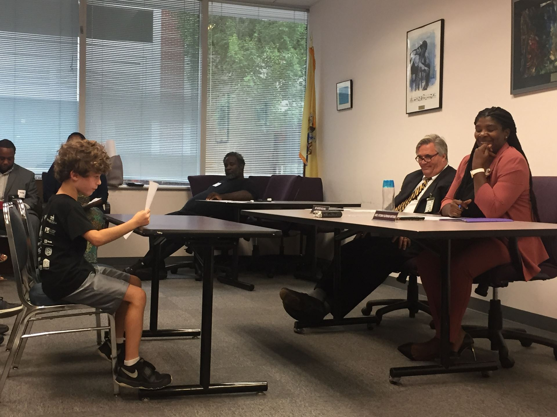 September 4 - NJ Parent, Jen Park and her son testified before the NJ State Board of Education during their open public testimony session on the value of and need for school library media specialists.